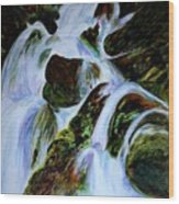 Energy Of Water  Wood Print