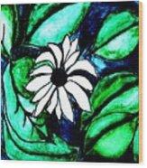Water Fantasy Flower Wood Print