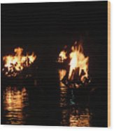 Water Fire Wood Print