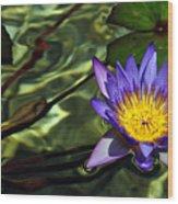 Water Floral Wood Print