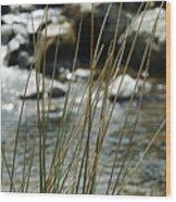 Water Flowing 1 Wood Print