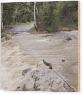Water Flowing In The North Fork Wood Print