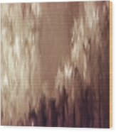 Water Fountain Abstract Wood Print
