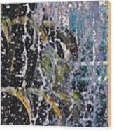 Water Fountain Blue Charleston Sc Wood Print by Lori Kesten