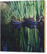 Water Garden Serie-H Wood Print