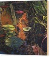 Water Garden Series A Wood Print