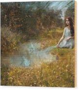 Water Girl Wood Print