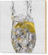 Water Glass Wood Print