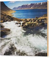 Water In Iceland - Beautiful West Fjords Wood Print