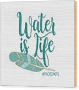 Water Is Life Nodapl Wood Print