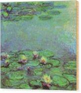 Water Lilies 1917 6 Wood Print