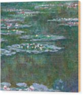 Water Lilies 5 Wood Print