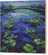 Water Lilies Magic Wood Print