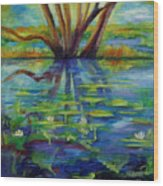 Water Lilies No 1. Wood Print