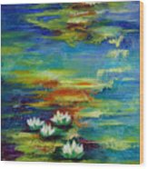 Water Lilies No 3. Wood Print