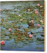 Water Lily Ballet Wood Print