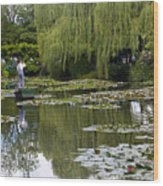 Water Lily Garden Of Monet In Giverny Wood Print
