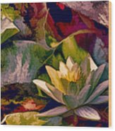 Water Lily In Living Color Wood Print