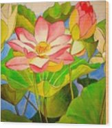 Water Lily Lotus Wood Print