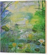 Water Lily Pond 1 Wood Print