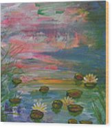 Water Lily Pond 2 Wood Print