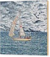 Water Marble Wood Print