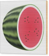Water Melon Wood Print
