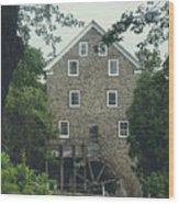 Water Mill Wood Print