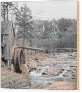 Old Mill Near Atlanta, Ga. Wood Print