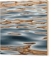 Water Movement- Liquid Gold Wood Print