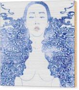 Water Nymph Lxxx Wood Print