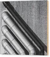 Water Pipes Wood Print