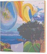 Water Planet Series - Vetor Version Wood Print