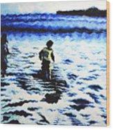 Water Play Wood Print