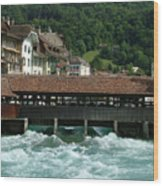 Water Power Lucerne Wood Print
