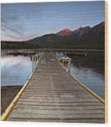 Water Reflections At Pyramid Lake Wood Print
