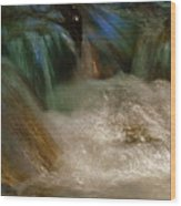 Water Rush Wood Print