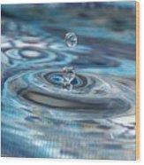 Water Sculpture In Blue 1 Wood Print