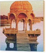 Water Shrine Wood Print