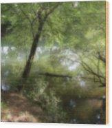 Water Side Wood Print