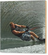 Water Skiing Magic Of Water 11 Wood Print by Bob Christopher