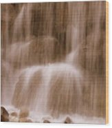 Water Softly Falling Wood Print