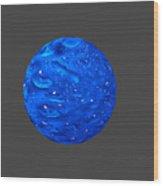 Water Sphere. Wood Print