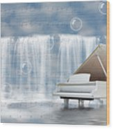 Water Synphony For Piano Wood Print