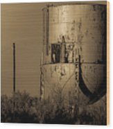 Water Tank Wood Print