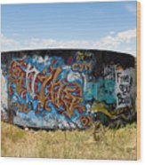 Water Tank Graffiti Wood Print