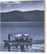Water Taxi - Lago De Coatepeque - El Salvador Wood Print