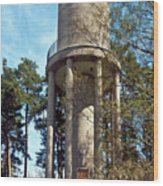 Water Tower In Malmi Cemetery Wood Print