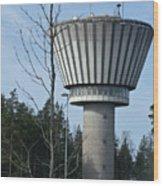 Water Tower Of Lohja  Station Wood Print