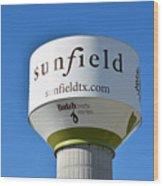 Water Tower - Sunfield Texas  Wood Print